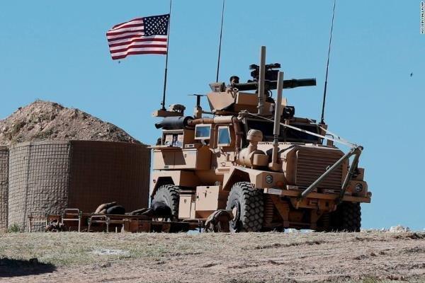 خروج نظامیان آمریکایی از پایگاه تل بیدر در سوریه